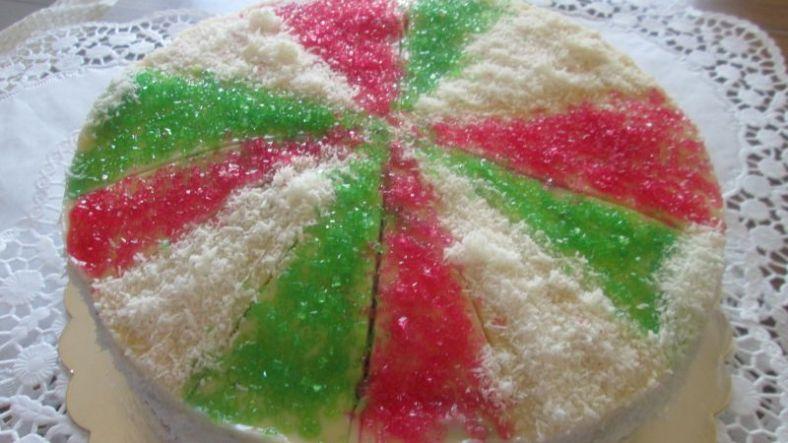2 - трицветна торта
