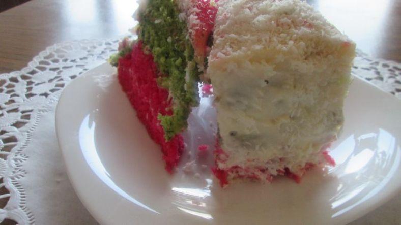3 - трицветна торта