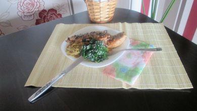 1 - пилешки пържоли с амарант и спанак