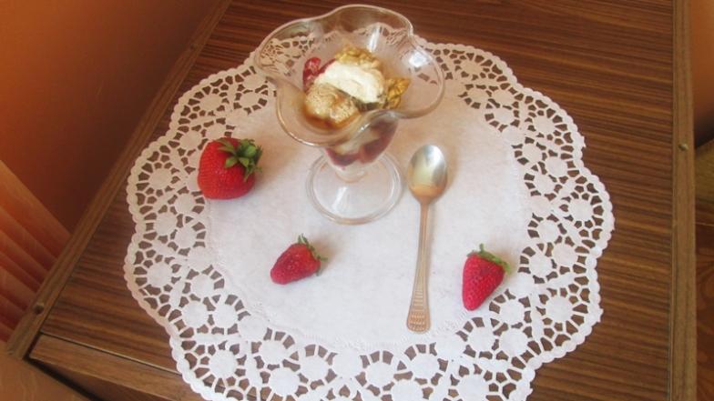 1 - сладолед със сметана и тиква